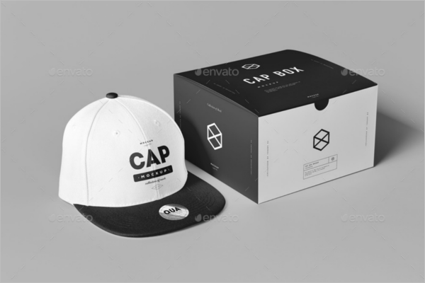 Cap Box Mockup Design