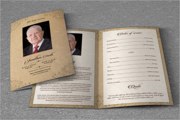 Celebration Of Life Brochure Template
