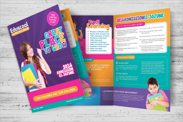 Child Care Brochure Template