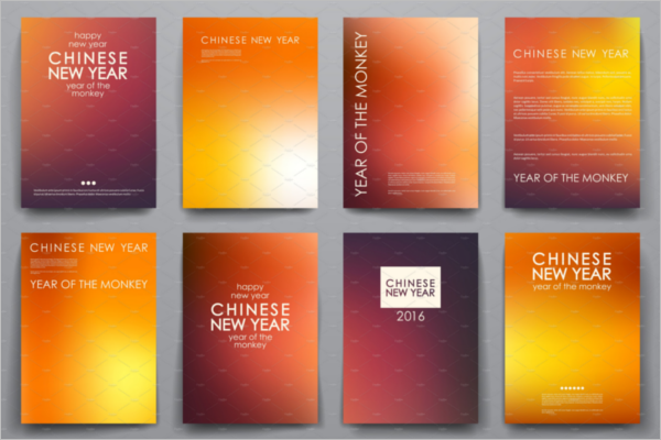 Chinese New Year Brochure Templates