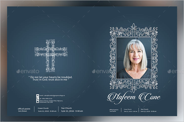 Christen Funeral Program Brochure