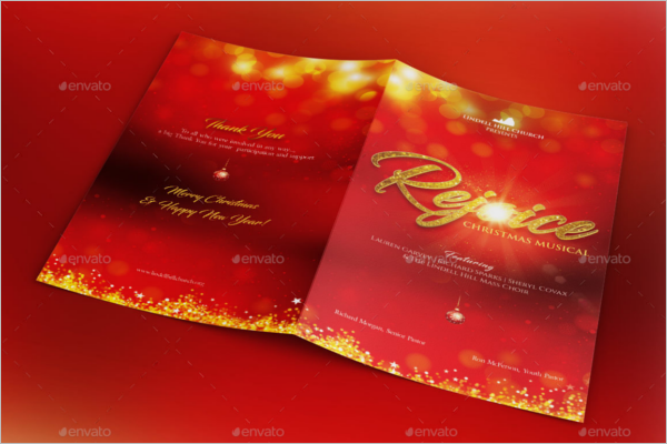 Christmas Card Brochure Template