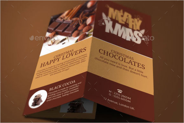 Christmas Chocolates Brochure Design