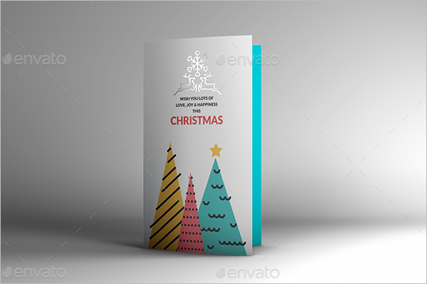 Christmas Invitation Card Mockup