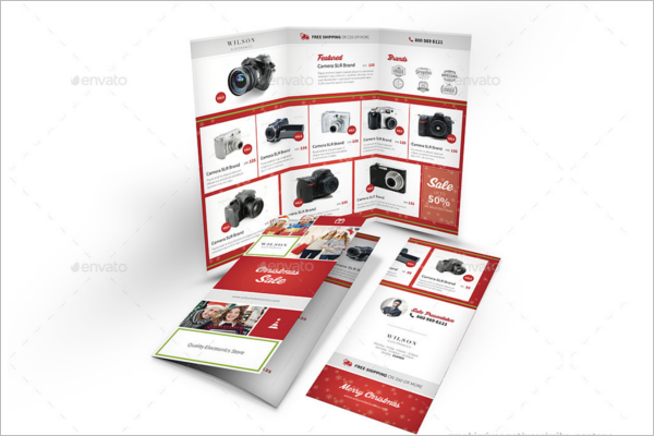 Christmas Store Trifold Brochure Design