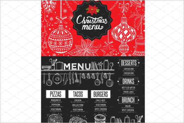 Christmas restaurant brochure Template