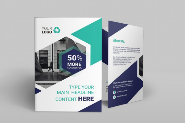 Clean Bifold Brochure Design