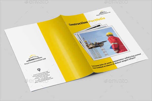 Clean Construction Company Brochure Design
