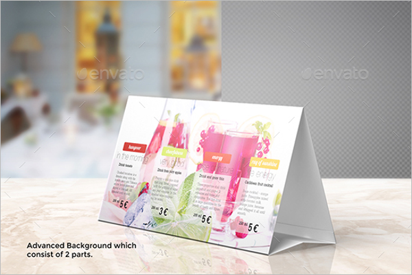 26 table tent card mockups free psd design templates