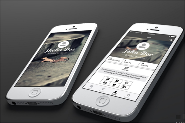 Clean iPhone Mockup Design