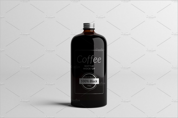 Coffee Bottle Mock-Up