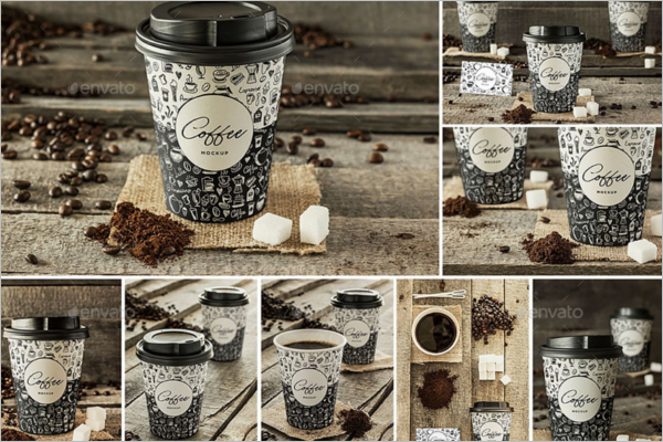 Coffee Cup Vector Mockup
