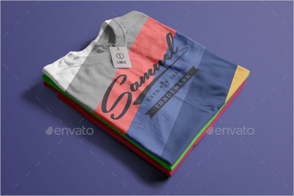 Colour T-Shirt Mockup