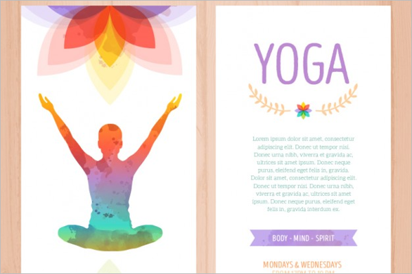 Colourful Yoga Brochure