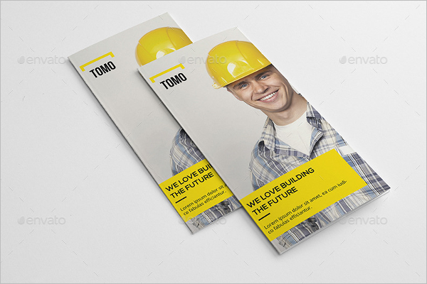 Construction Company A4 Brochure Design