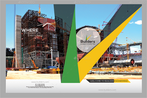 Construction Company Brochure Illustrator