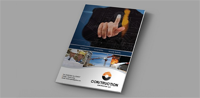 Construction Company Brochure Templates