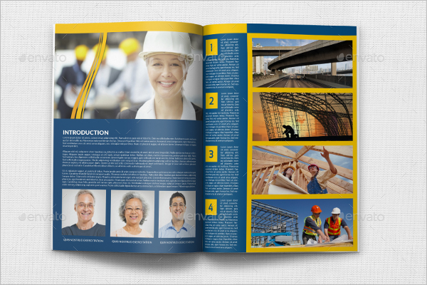 Construction Company Catalog Design