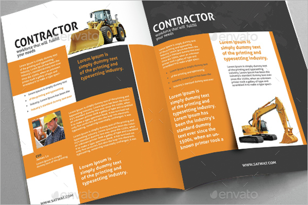 Construction Contrator Brochure Design