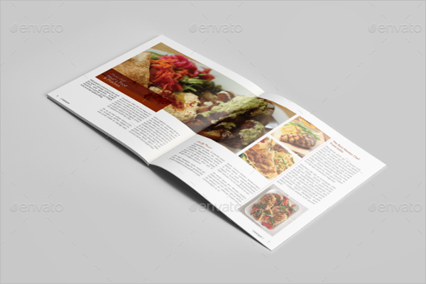 Cookbook magazine Brochure Template