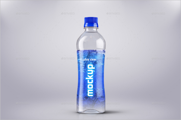 Cool Drink Plastic Bottle Mockup