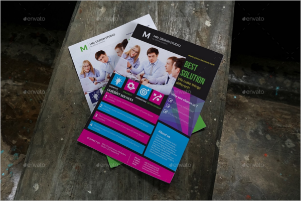 Corporate A4 Flyer Mockup Design