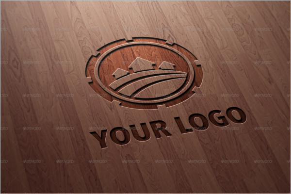 Corporate Wood Log Mockup Template