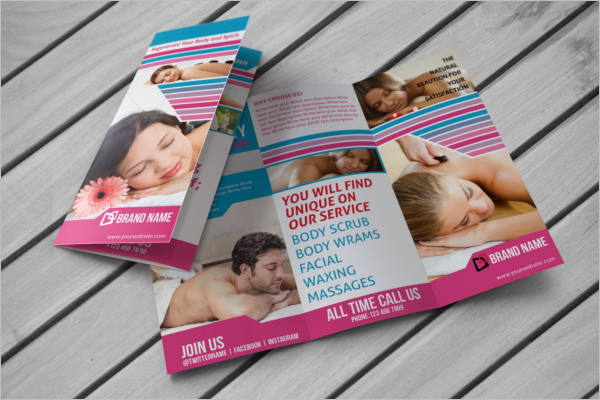 Cosmetic Trifold Brochure Template