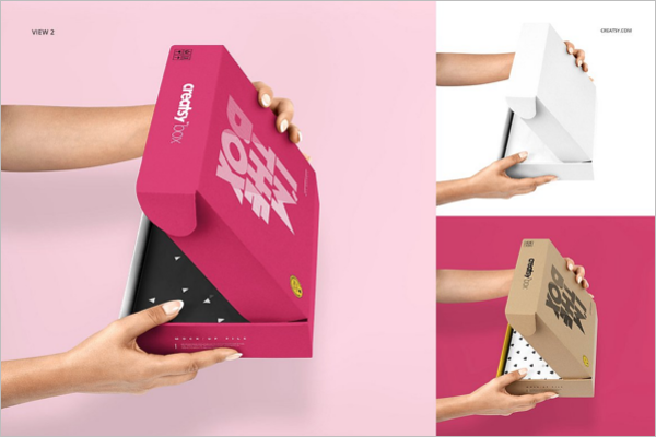 Creative Gift Box Mock-up