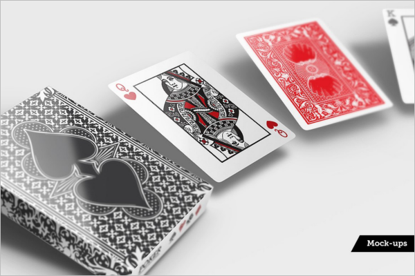 Creative Playing Card Mockup