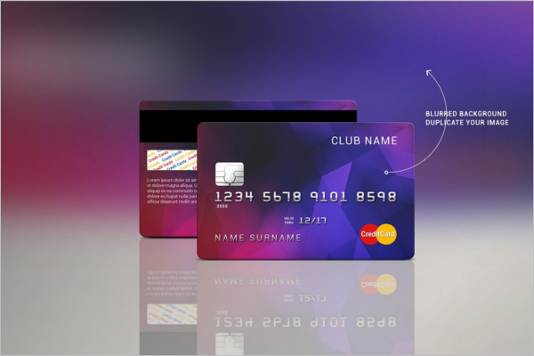 Credit Card Name Mockup