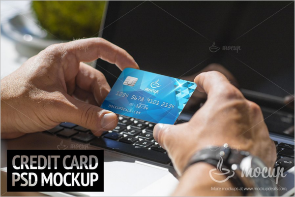 Credit PSD Card Mockup