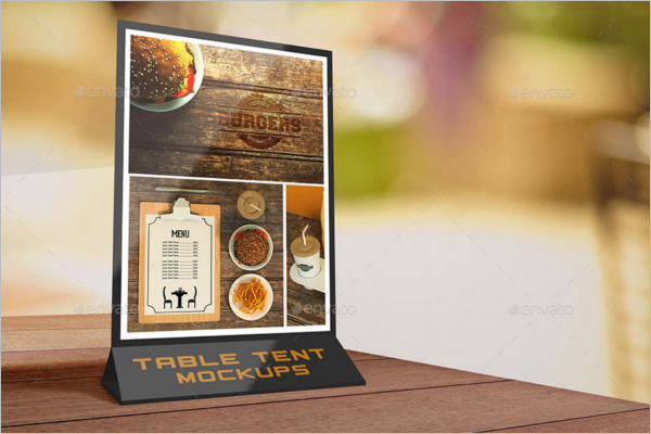 Customize Table Tent Card Mockup