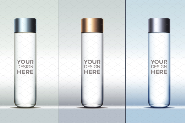 Cylinder Bottle Mockup Template