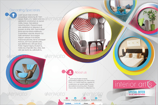 Decorative Interior Brochure Design