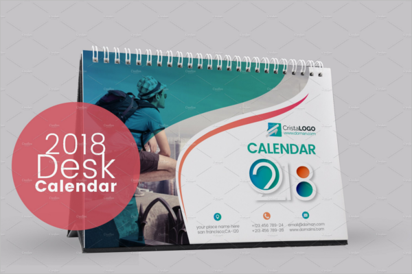 Desk Calendar Mockup Illustrator