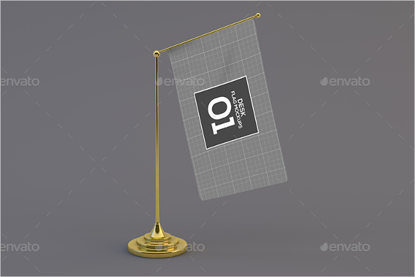 Desk flag Mockup Design