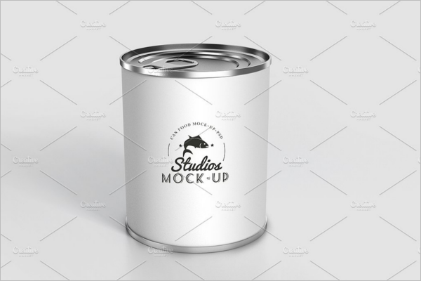 Editable Can Mockup Design