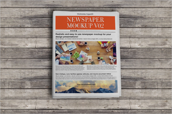 Editable Newspaper Mockup
