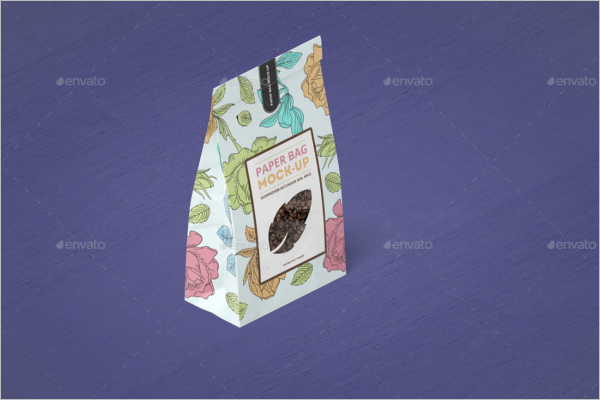 Editable Paper Bag Mockup Template