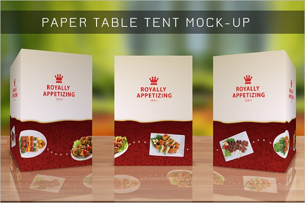 Elegant Table Tent Card Mockup