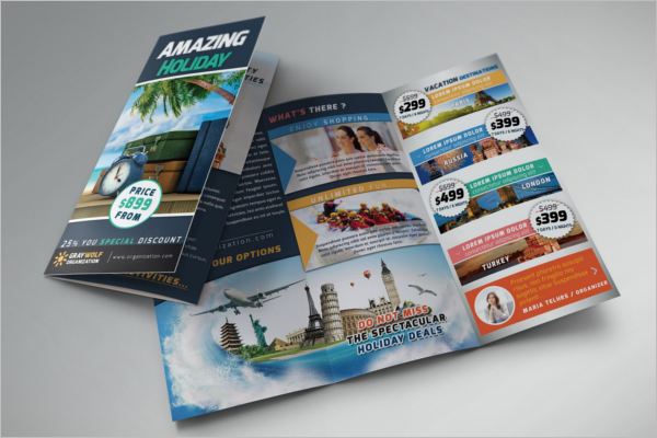 Entertainment Holiday Brochure Template