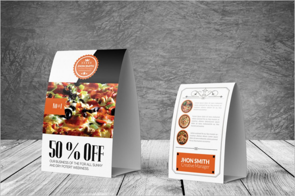 Event Table Tent Card Mockup