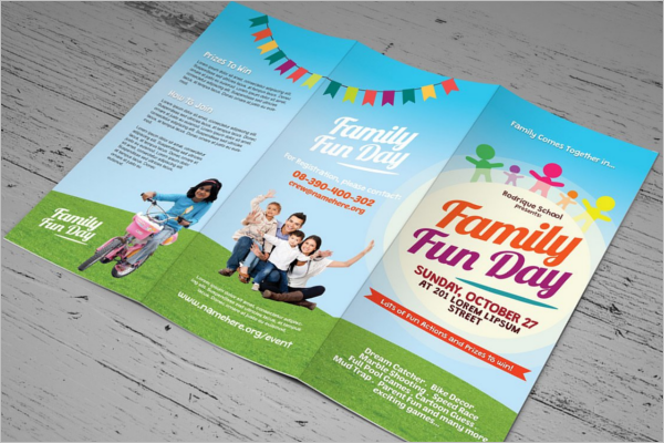 Family Event Brochure Template