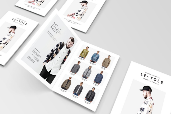 Fashion Bifold Brochure Template