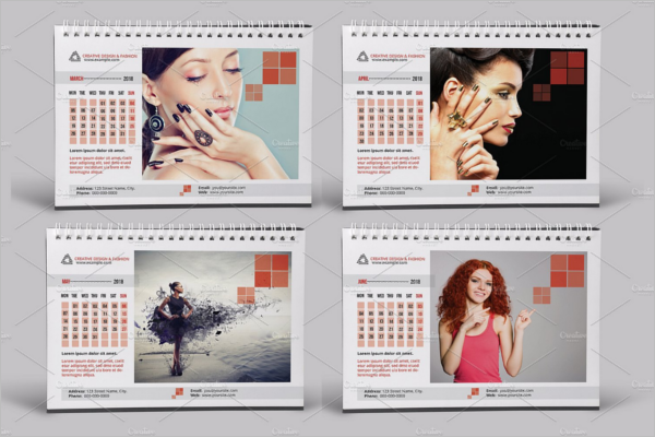 Fashion Cover Desk Calendar Mockup