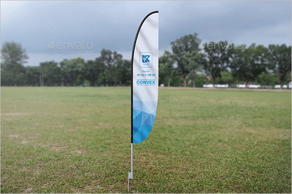 Feather Flag Pole Mockup