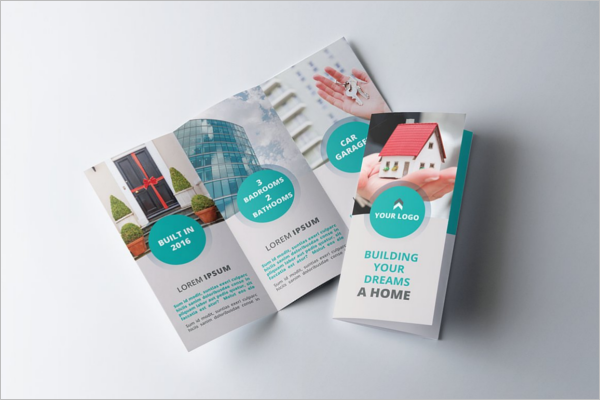 Flat Real Estate Brochure Template
