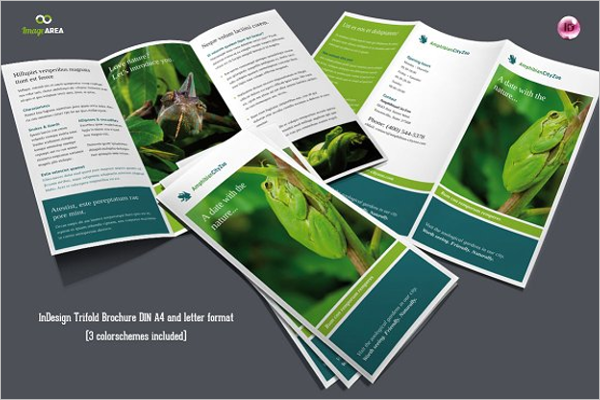 Flexible Green Brochure PSD Template