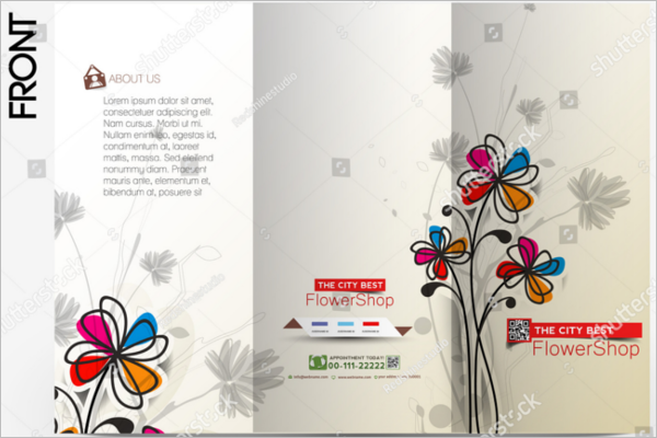 Florist Brochure Illustrator